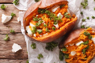 Twice baked sweet potato recipe