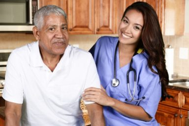 Man receiving Home Health Care