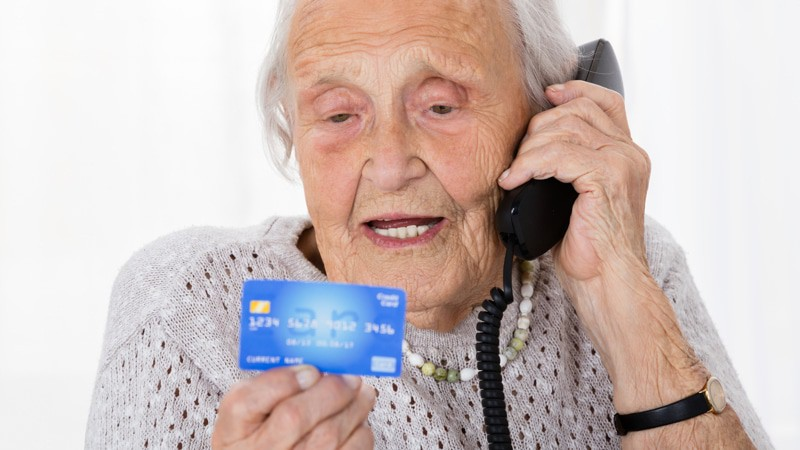 Senior Woman Phone Scam