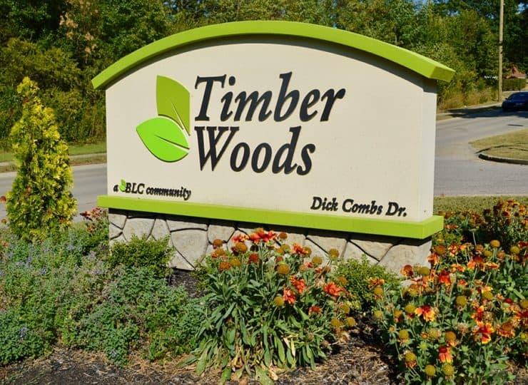 Timber Woods Sign
