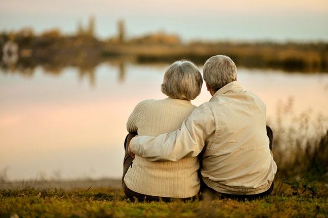 in home senior care couple