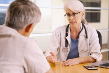Patient Getting a second medical opinion from a doctor