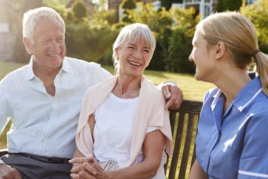 Senior couple at a Continuing Care Retirement Community CCRC