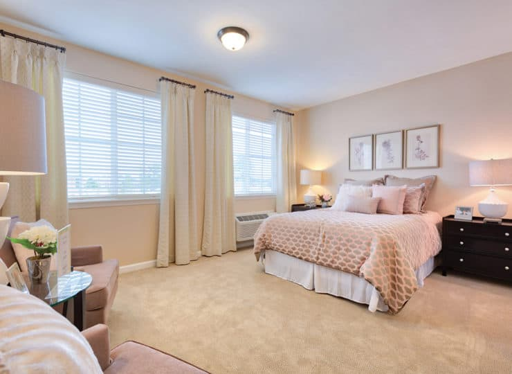 Three Creeks Senior Living Bedroom