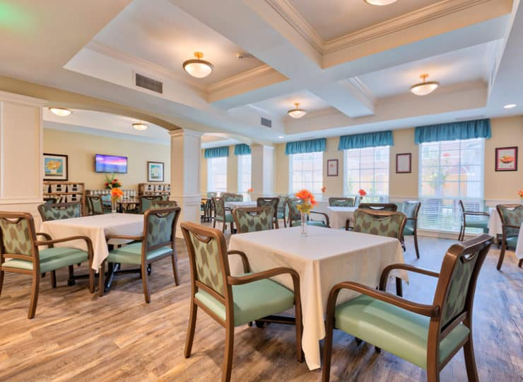 Three Creeks Senior Living Dining Room
