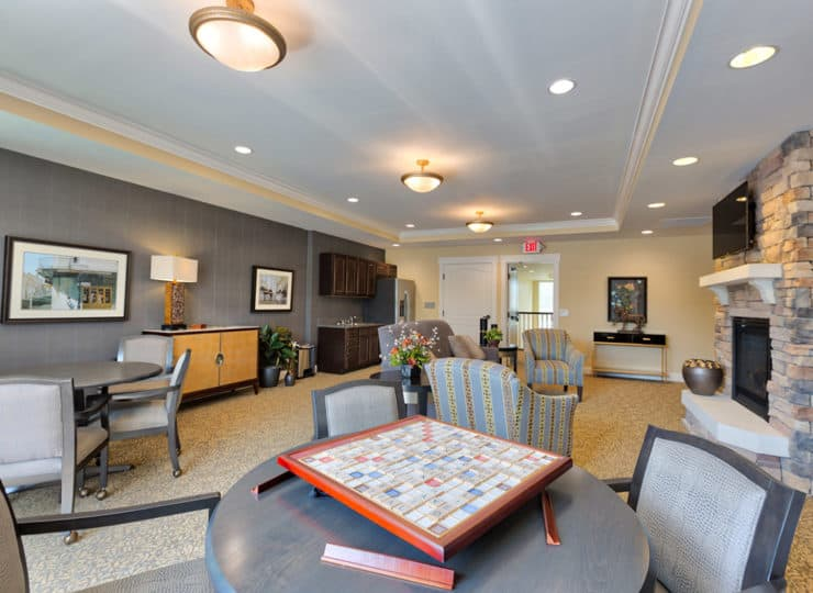 Three Creeks Senior Living Game Room
