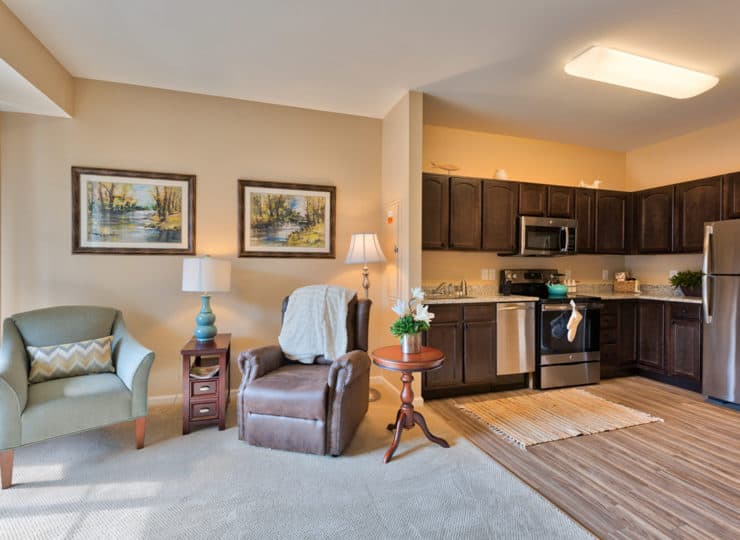 Three Creeks Senior Living Kitchen