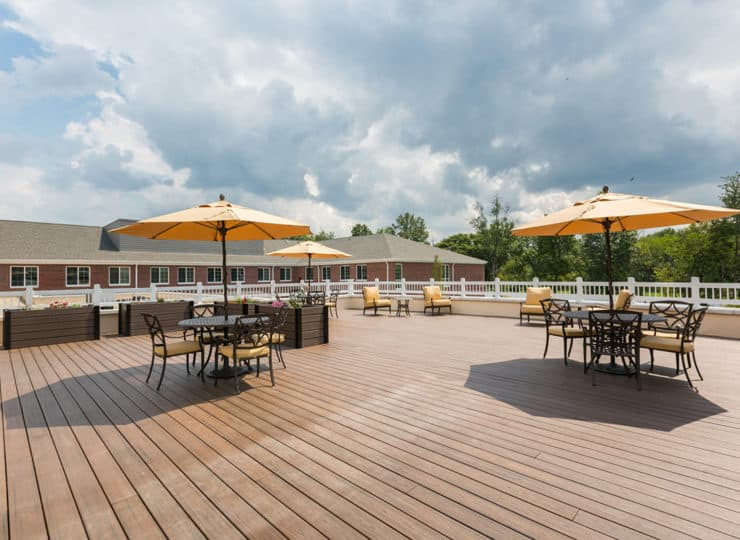 Three Creeks Senior Living Patio