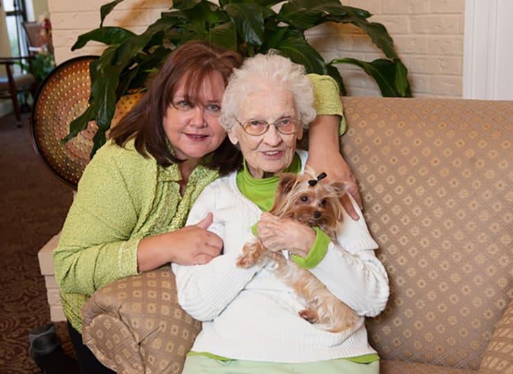 Commonwealth Senior Living at Radford Resident with Dog