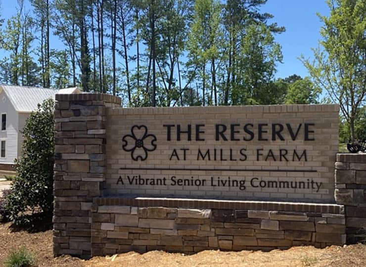 The Reserve At Mills Farm Sign