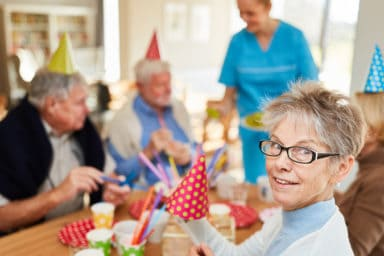 Trends in assisted living like fun birthday parties