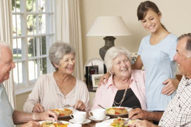 Seniors enjoying senior living in Dayton