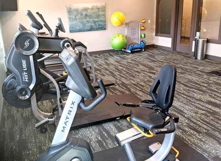 Encore Apartments fitness room