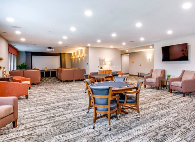 Encore Apartments game room