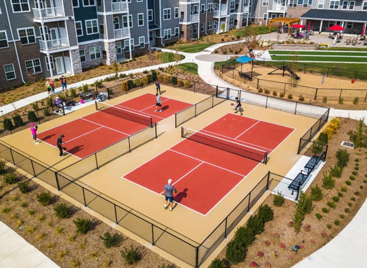 Encore Apartments pickleball courts
