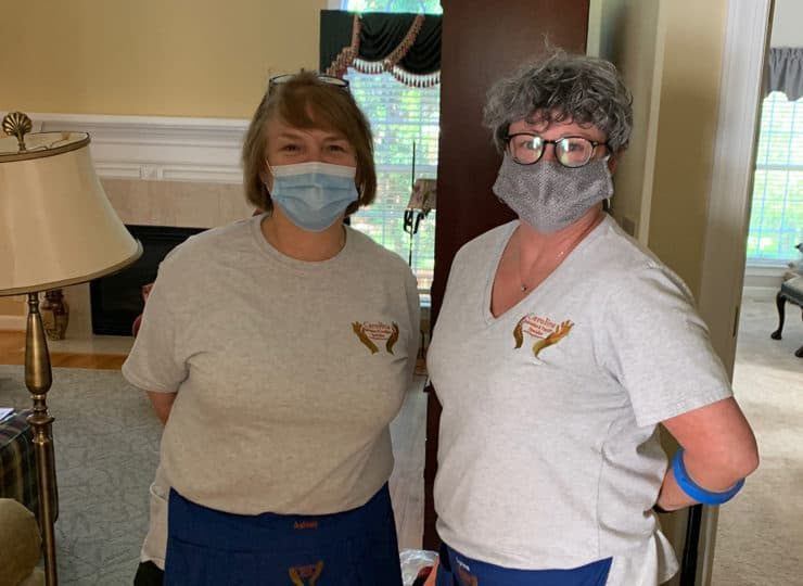 Carolina Relocation and Transition Specialists helpers with masks