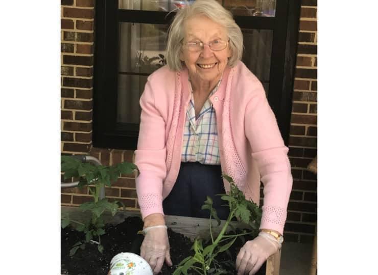 Morningside Of Raleigh Resident Gardening