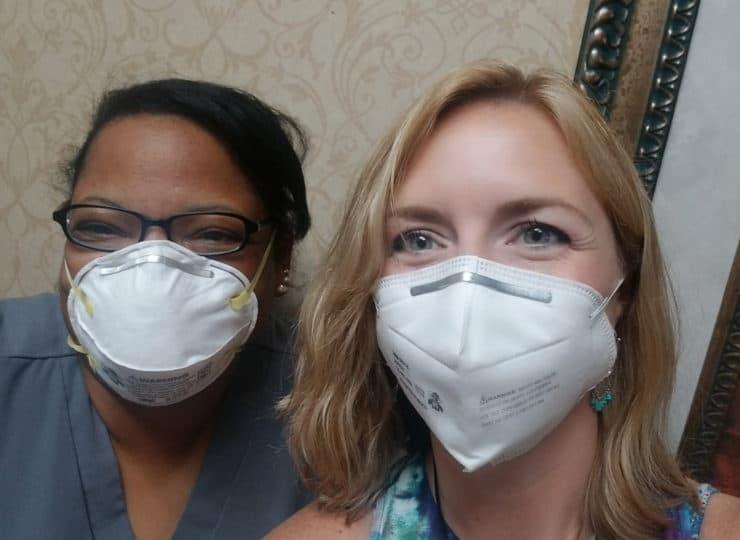 Mayfair Village Nursing Care Caregivers Smiling Under Masks