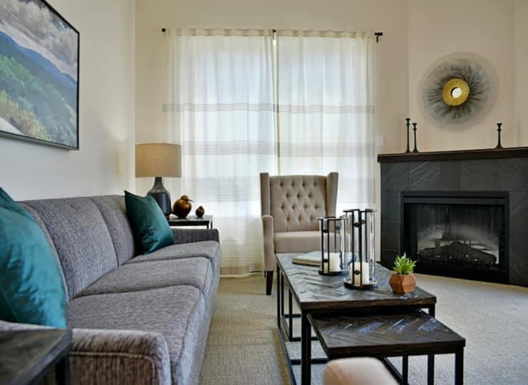 Rose Senior Living Carmel Living Room