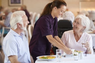 Assisted living meals served