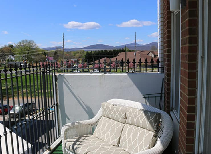 Friendship Assisted Living Balcony