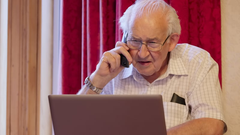Senior man getting caught up in scams that target seniors