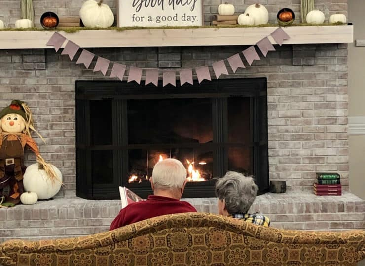Alois Alzheimers Couple At Fireplace