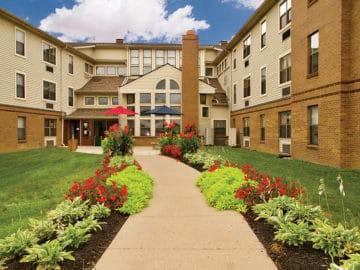 Goodwin Plaza Senior Apartments Courtyard