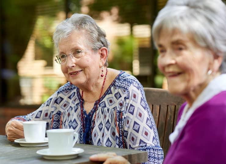 The Oaks At Whitaker Glen Residents Drinking Tea