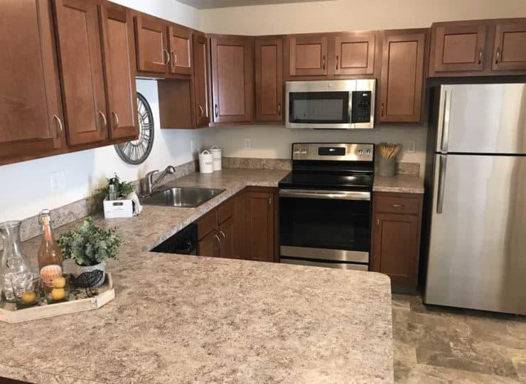Lakeview Senior Apartment Kitchen
