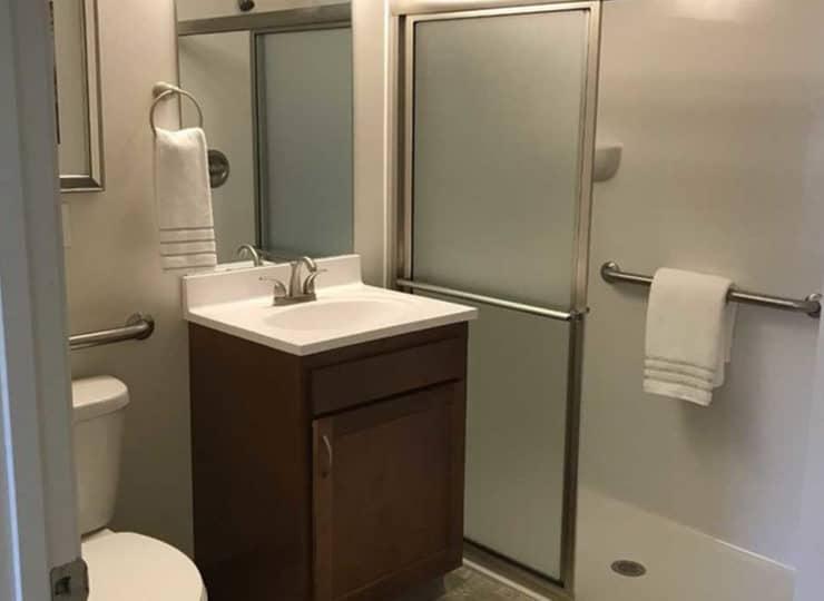 Lakeview Senior Apartment Bathroom