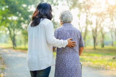 Senior woman benefiting from ADLs