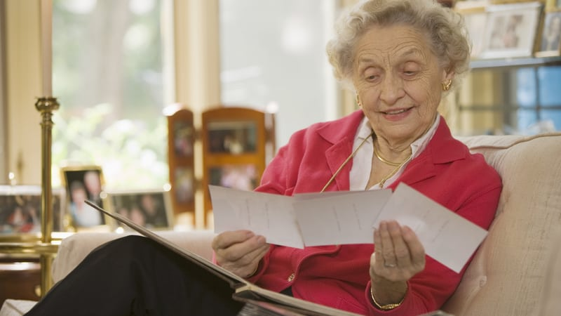 Woman doing a little downsizing for seniors