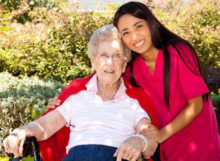 Armstong Homecare Caregiver With Senior Lady