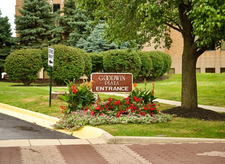 Goodwin Plaza Senior Apartments Entrance Sign