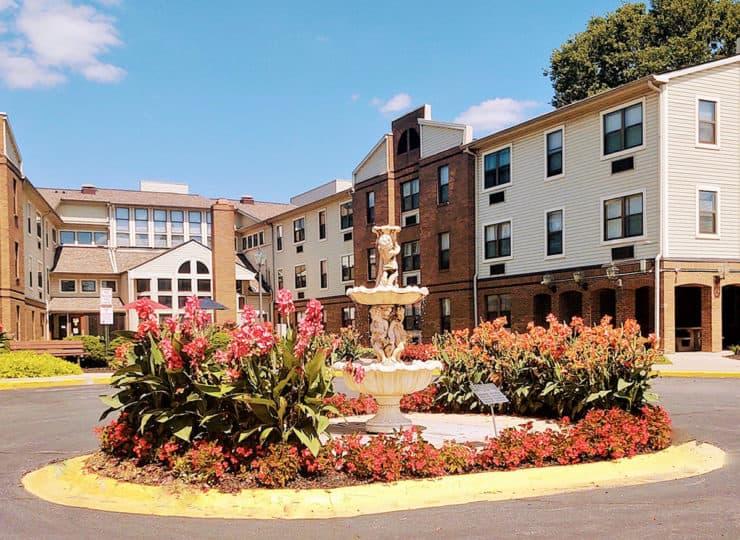 Goodwin Plaza Senior Apartments Fountain