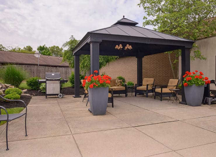 Mayfair Village Retirement Center Courtyard