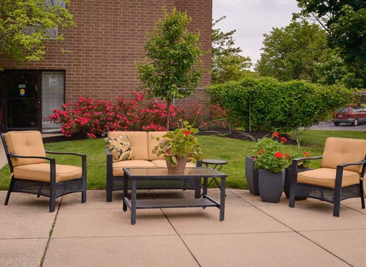 Mayfair Village Retirement Center Outdoor Patio