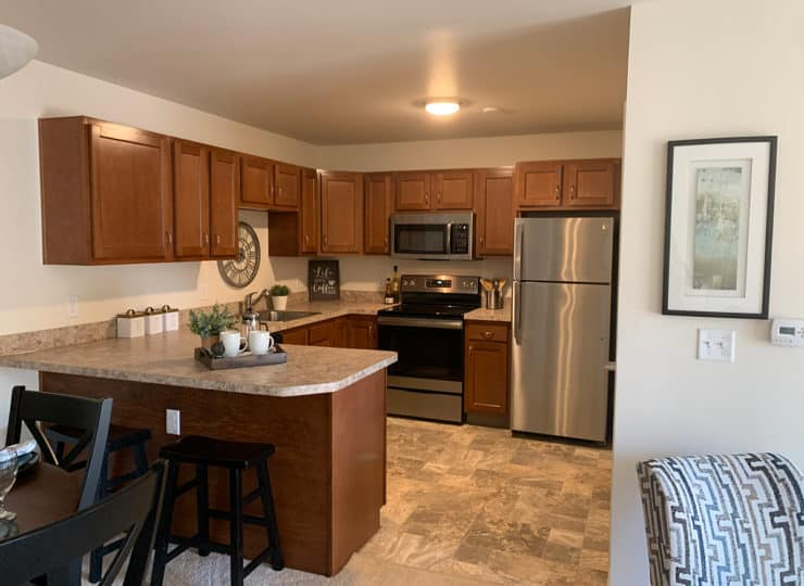 Sycamore Creek Senior Apartments Kitchen