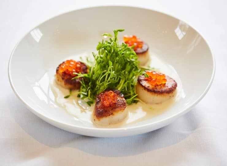 Woodland Terrace Cary Scallops Dinner