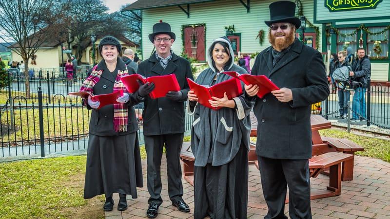 Christmas carolers bringing holiday cheer to seniors