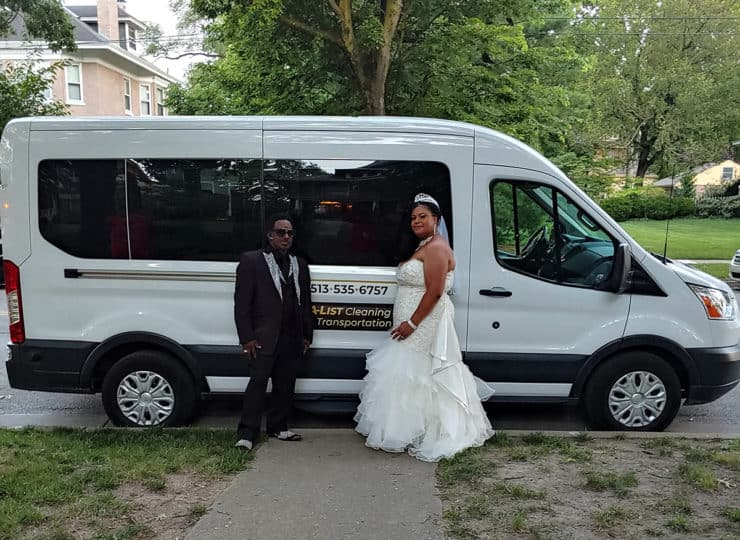 A List Cleaning and Transportation Wedding
