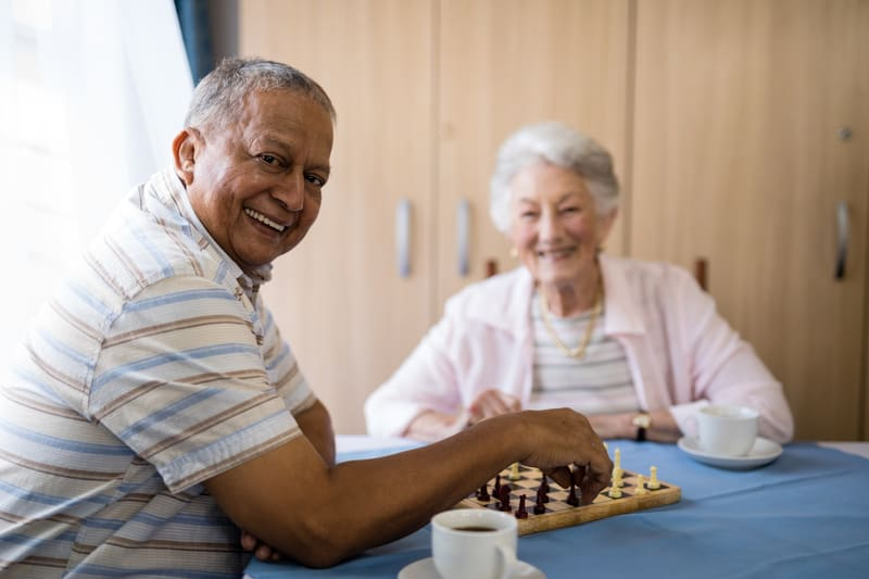 Active adult living chess party