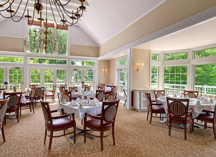 Evergreen Wellspring Elegant Dining Room