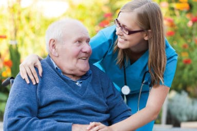 Grace Healthcare Caregiver with Senior Man