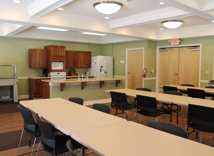 Tubman Towers Dining Area