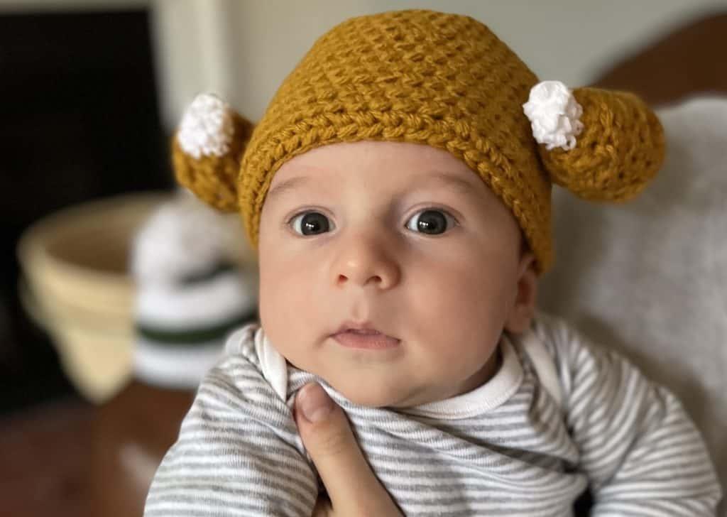 Crocheting a little hat