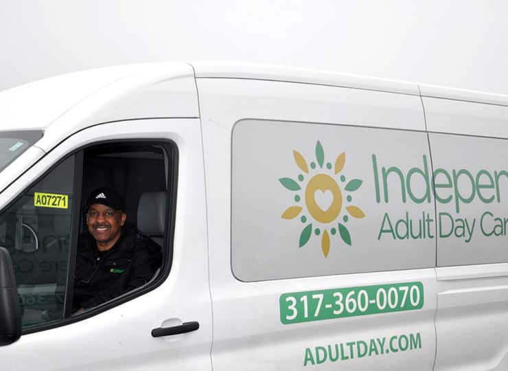Independent Adult Day Care Center Man Driving Van