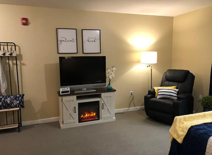 Landings of Huber Heights Living Room with Fireplace