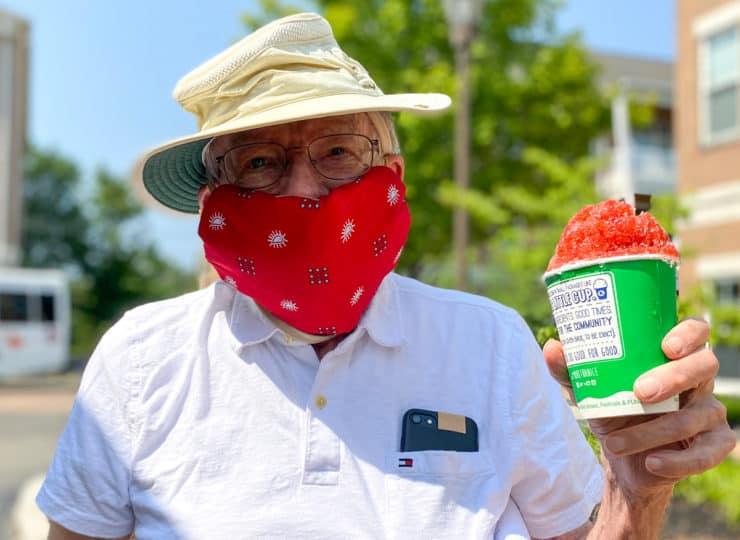 Maple Knoll Village Elderly Man Holding Ice Cream